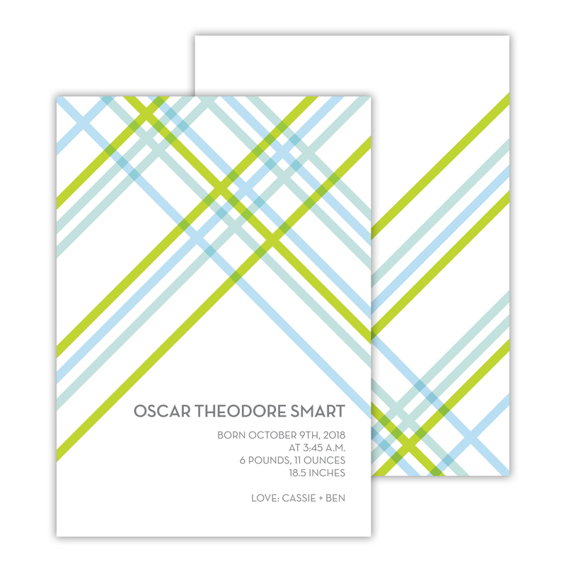 Theo Personalized Deluxe Flat Invitation, Birth Announcement or Card (25)