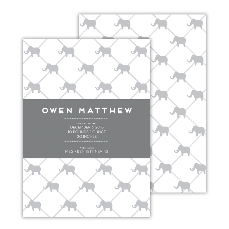 Dumbo Personalized Deluxe Flat Invitation, Birth Announcement or Card (25)