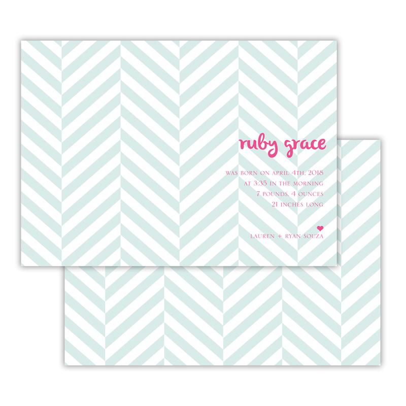 Perspective Deluxe Flat Invitation, Birth Announcement or Card (25)