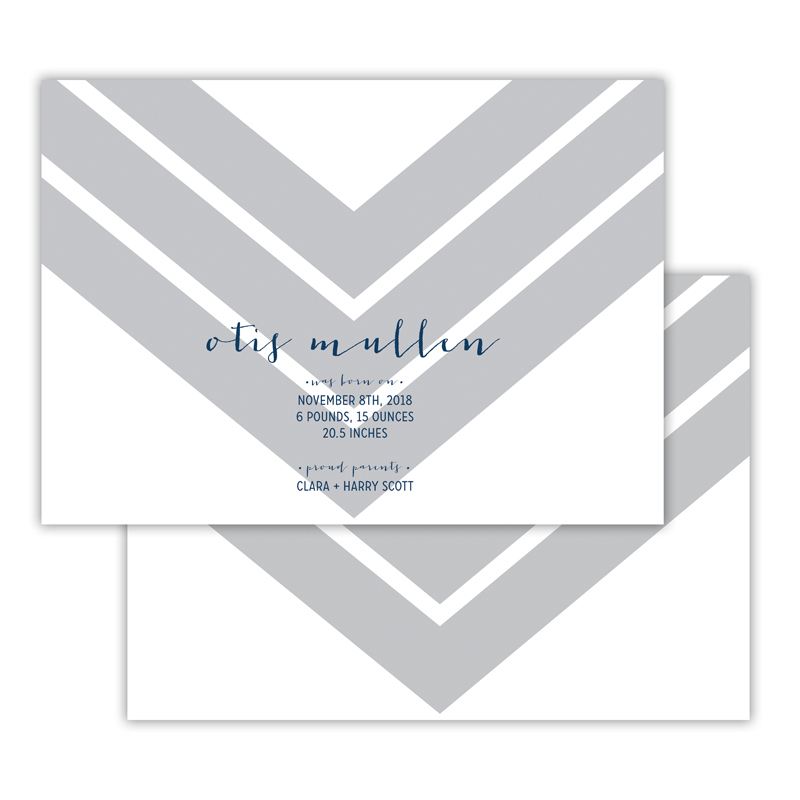 Ford Personalized Deluxe Flat Invitation, Birth Announcement or Card (25)
