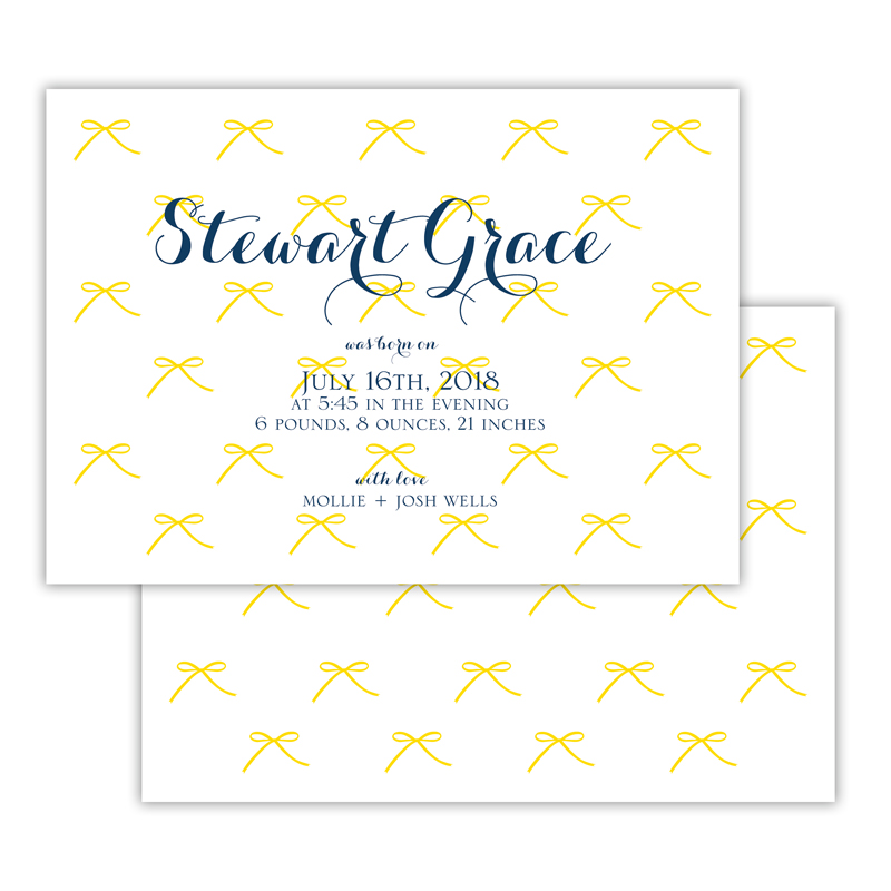 Chloe Personalized Deluxe Flat Invitation, Birth Announcement or Card (25)