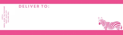 Bruno Hot Pink Wrap Around Address label