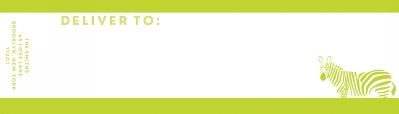Bruno Chartreuse Wrap Around Address label