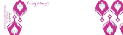 Elsie Fuchsia Wrap Around Address label