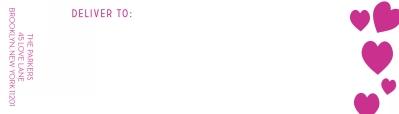 Lovestruck Fuchsia Wrap Around Address label