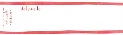 Candy Cane Red Wrap Around Address label