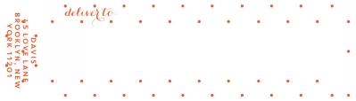 Swiss Dot Warm Red Wrap Around Address label