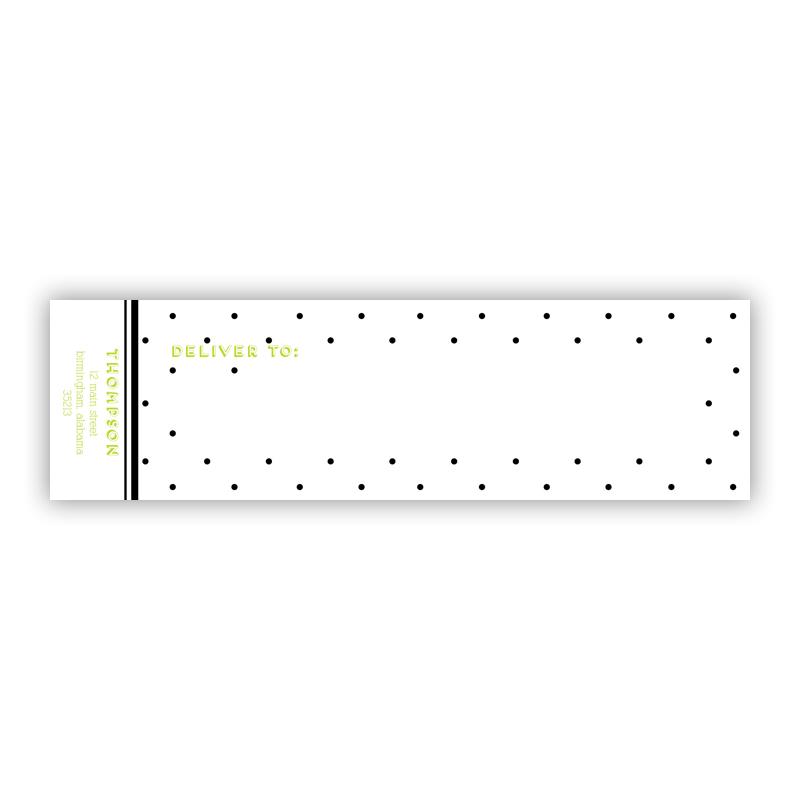 Swiss Dot Personalized Wrap Around Address Labels (10 labels)