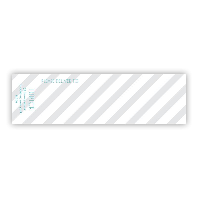 Beach Club 2 Personalized Wrap Around Address Labels (10 labels)