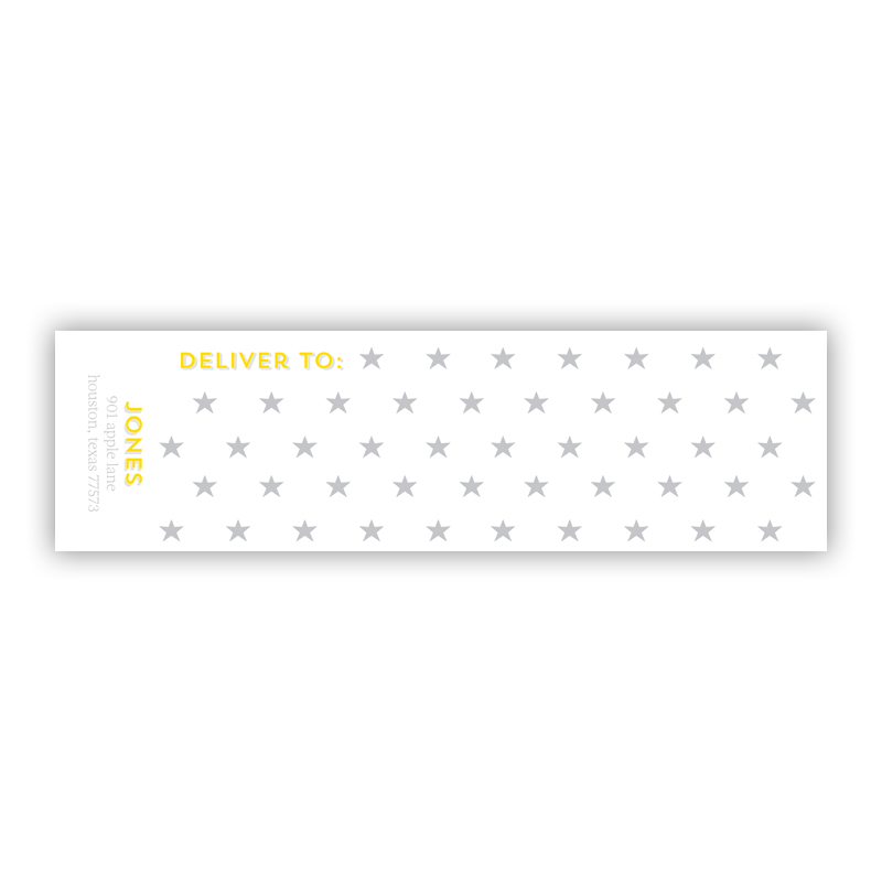 Bonne Nuit Personalized Wrap Around Address Labels (10 labels)