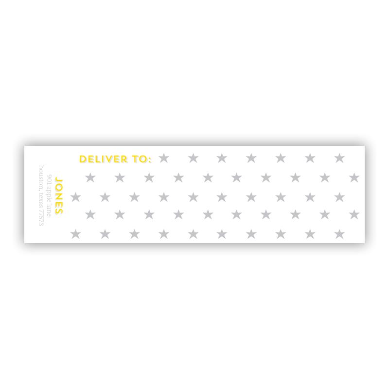 Bonne Nuit Personalized Wrap Around Address Labels (10 labels)
