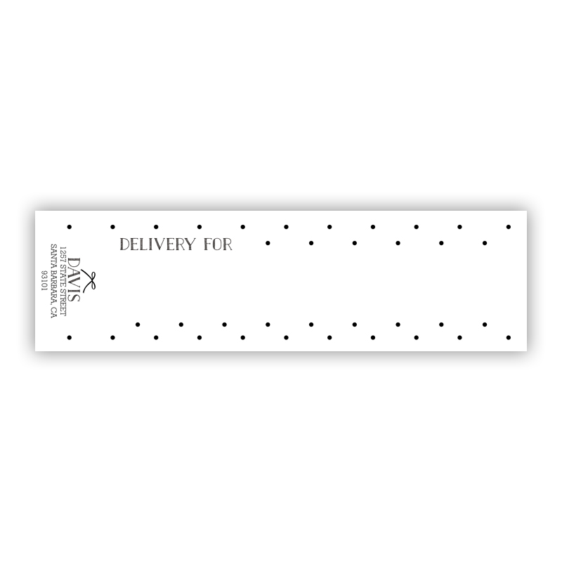Swiss Dot 2 Personalized Wrap Around Address Labels (10 labels)