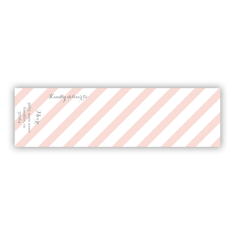 Beach Club 3 Personalized Wrap Around Address Labels (10 labels)