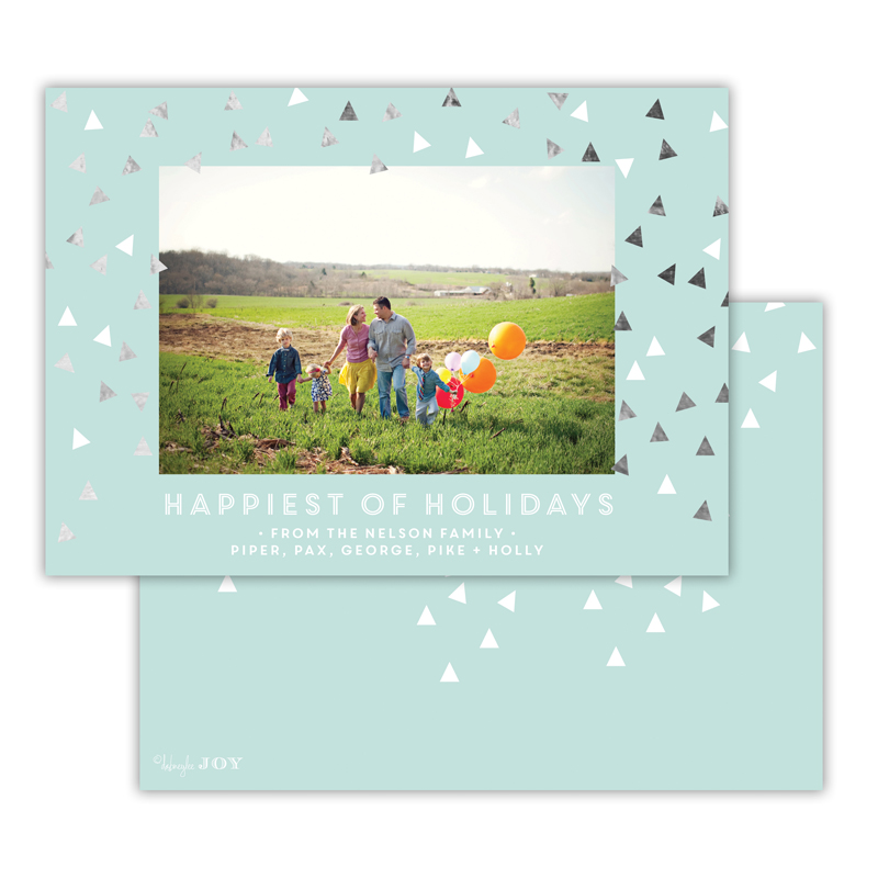 Sprinkles with Foil Holiday Photocard - available in 5 colors