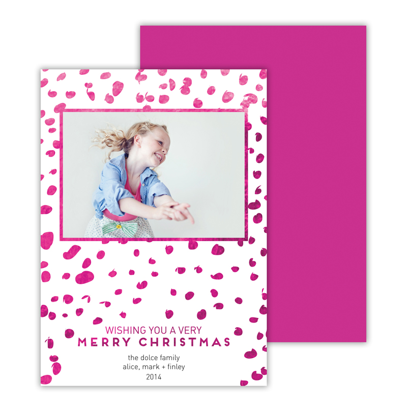 Wild with Foil Holiday Photocard - available in 6 colors
