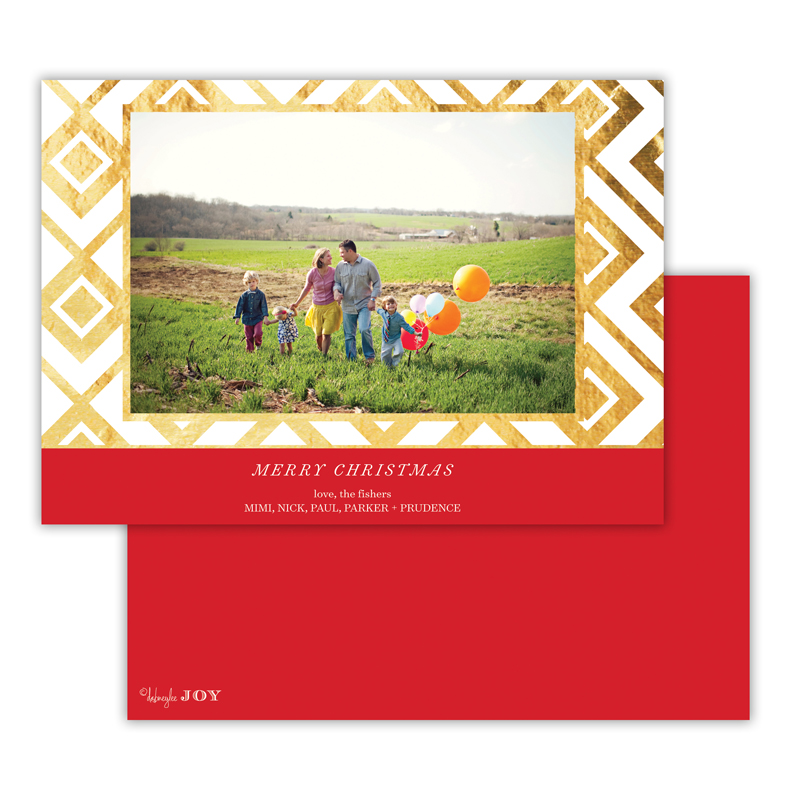 Diamond Lucy with Foil Holiday Photocard - available in 5 colors