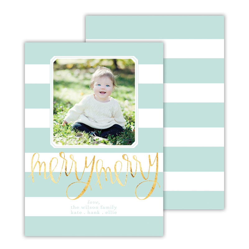Cabana with Foil Christmas Photocard - available in 5 colors
