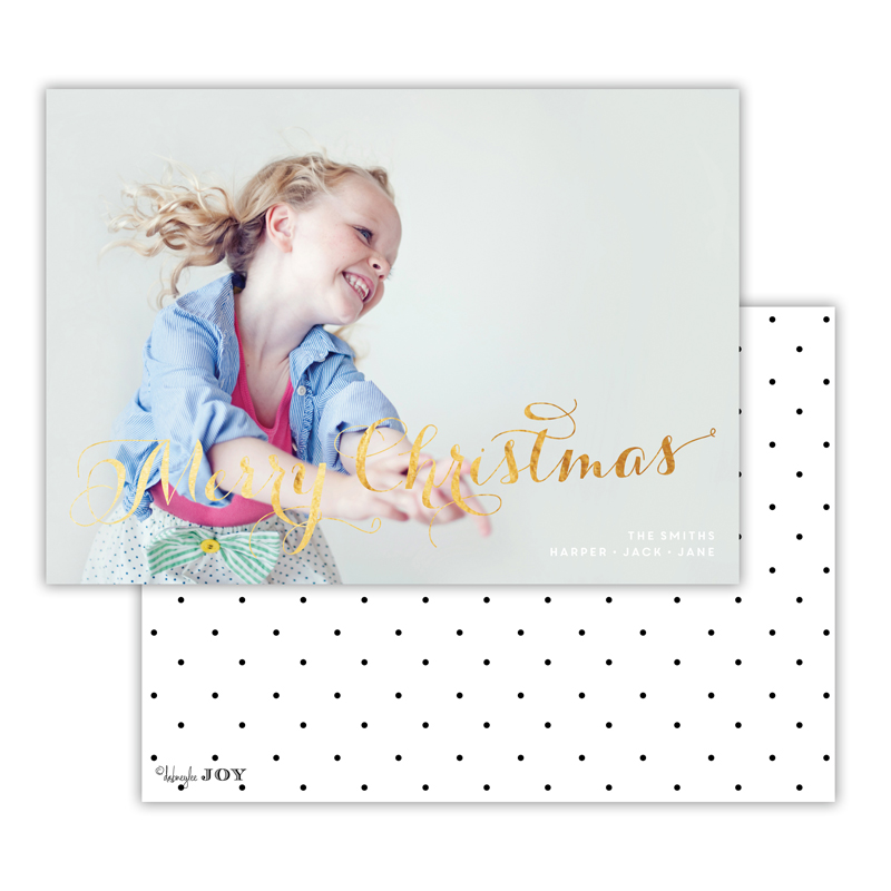 Swiss Dot with Foil Christmas Photocard - available in 4 colors