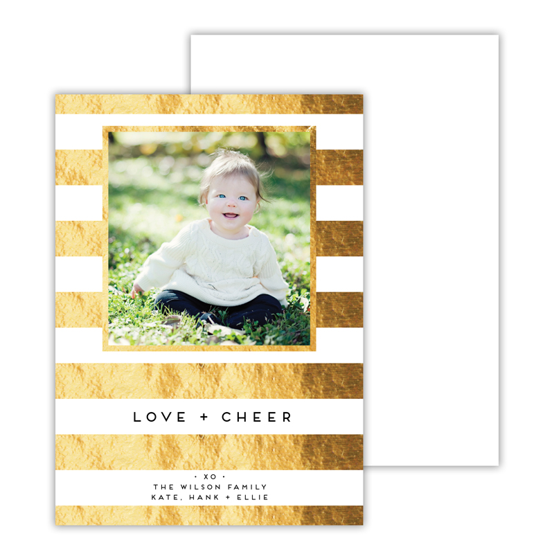 Cabana 2 with Foil Holiday Photocard - available in 5 colors