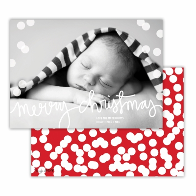 Merry Christmas with Holepunch Red Back Flat Photocard