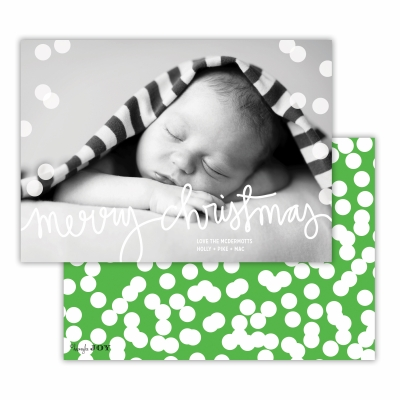 Merry Christmas with Holepunch Grass Back Flat Photocard