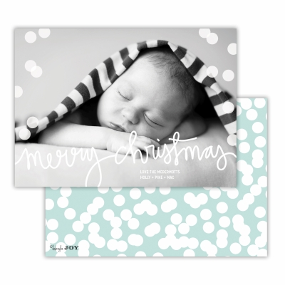 Merry Christmas with Holepunch Sea Back Flat Photocard