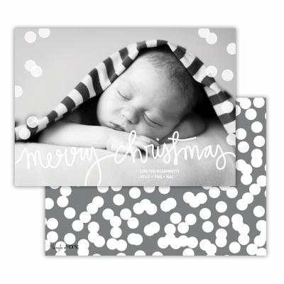 Merry Christmas with Holepunch Dark Grey Back Flat Photocard