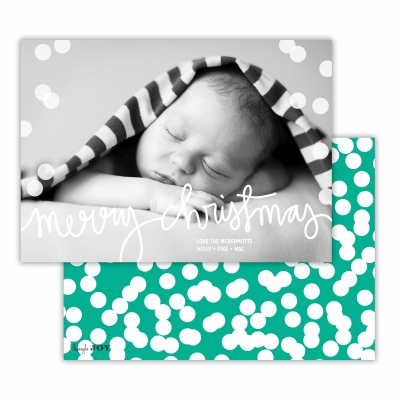 Merry Christmas with Holepunch Jewel Back Flat Photocard