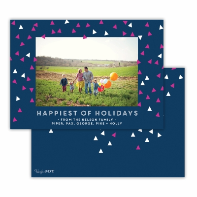 Sprinkles Happiest of Holidays  Navy Flat Photocard