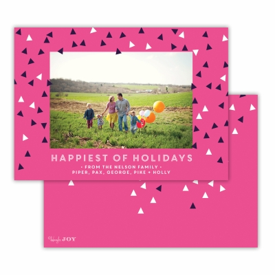Sprinkles Happiest of Holidays  Hot Pink Flat Photocard