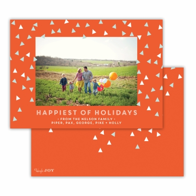Sprinkles Happiest of Holidays  Warm Red Flat Photocard
