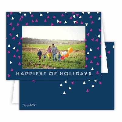 Holiday Sprinkles Navy Folded Photocard