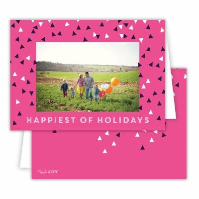Holiday Sprinkles Hot Pink Folded Photocard