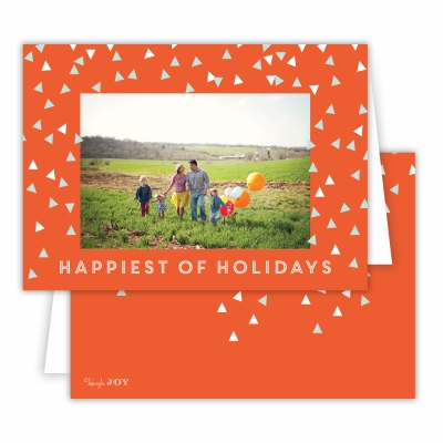 Holiday Sprinkles Warm Red Folded Photocard
