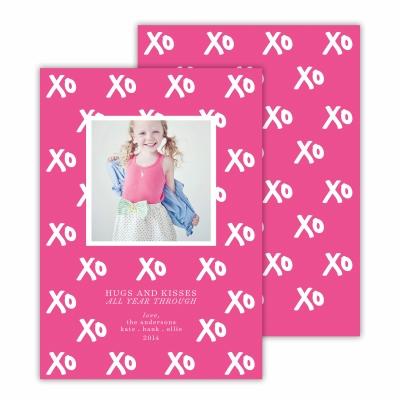 Hugs + Kisses Hot Pink Photocard
