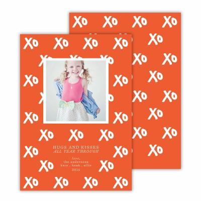 Hugs + Kisses Warm Red Photocard