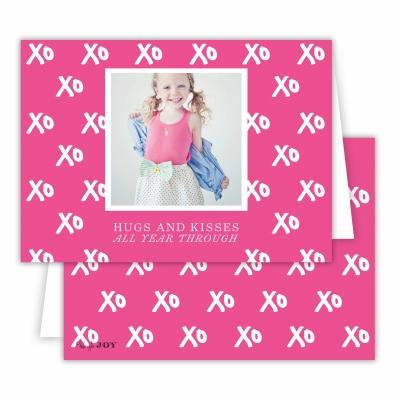 Hugs + Kisses Hot Pink Folded Photocard