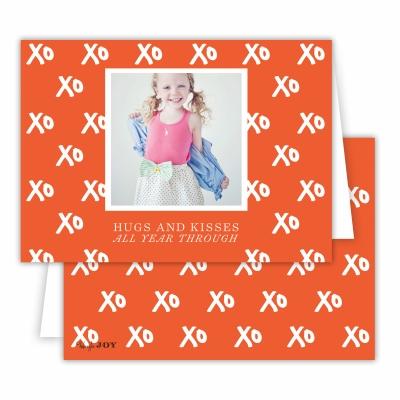Hugs + Kisses Warm Red Folded Photocard