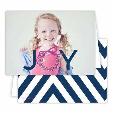 Christmas Wreath with Navy Back Folded Photocard