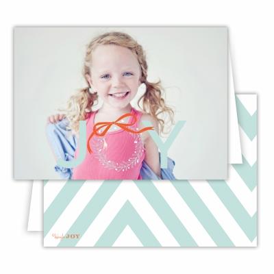 Christmas Wreath with Sea Back Folded Photocard