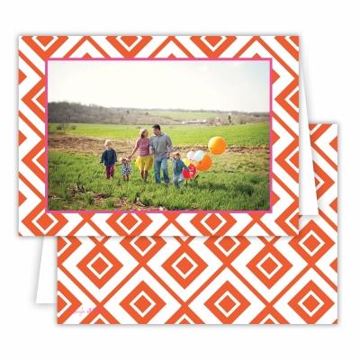Diamond Lucy Warm Red Folded Photocard