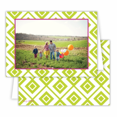 Diamond Lucy Chartreuse Folded Photocard