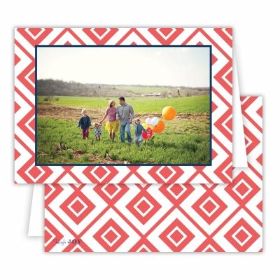 Diamond Lucy Coral Folded Photocard