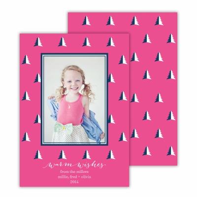 Evergreen Tree Hot Pink Photocard