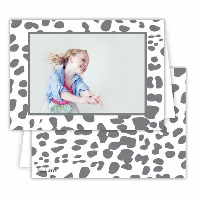 Cheetah Grey Folded Photocard
