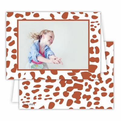 Cheetah Rust Folded Photocard