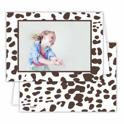 Cheetah Chestnut Folded Photocard