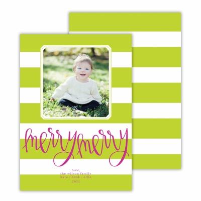 Merry Merry Cabana Chartreuse Photocard