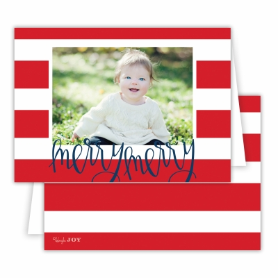 Merry Merry Cabana Red Folded Photocard