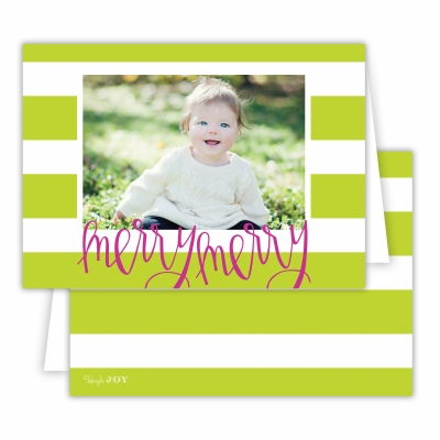 Merry Merry Cabana Chartreuse Folded Photocard